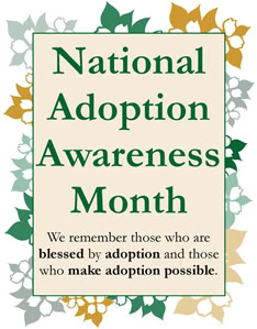 Thankful Thursday: Adoption Awareness Month