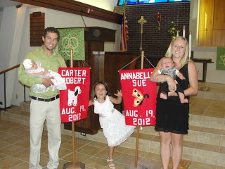 Baptism Day for Carter and Annabelle