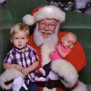 Wordless Wednesday:  Santa Picture 2012