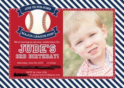 A Baseball Birthday Party