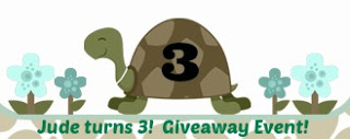 Jude Turns 3!  Giveaway Event Announcement!