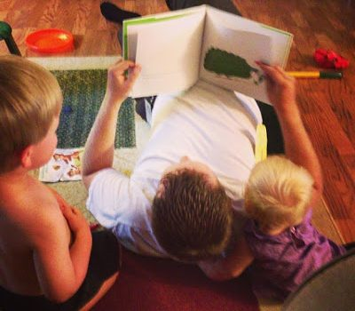 Wordless Wednesday:  Story Time with Daddy