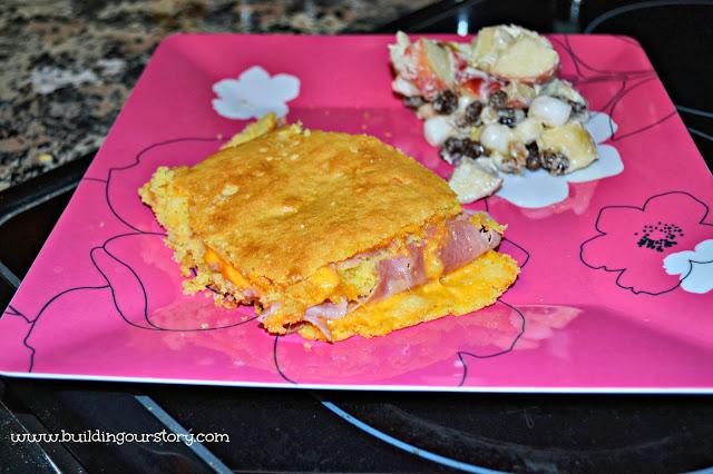 Cornbread Hot Ham and Cheese Sandwich Recipe