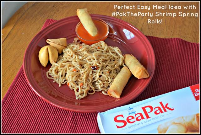 #PakTheParty #ad #shop #cbias Shrimp Spring Rolls from Rich's SeaPak