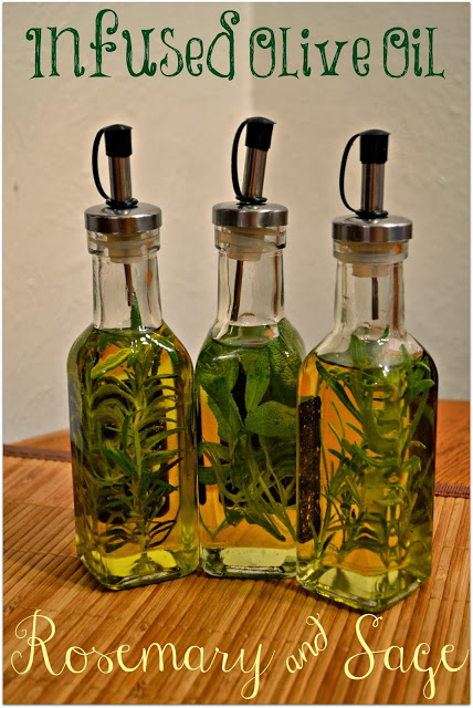 Rosemary and Sage Infused Olive Oils - DIY infused oils