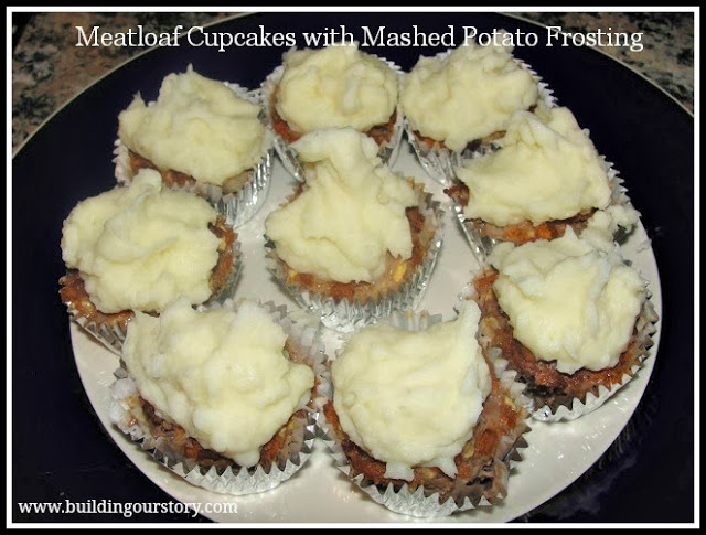 Meatloaf Cupcakes with Mashed Potato Frosting Recipe