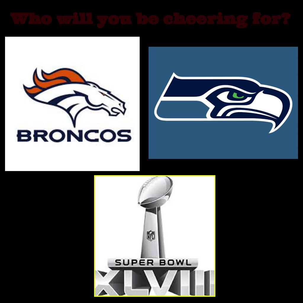 Superbowl 2014  Denver Broncos Seattle Seahawks  Football  logos