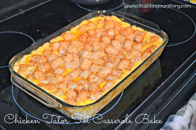 Chicken Tatar Tot Casserole Bake Recipe