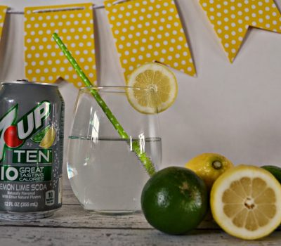 A Low Calorie Summer Treat: Lemon-Lime Strawberry Soda Popsicle #Recipe #TENways #PMedia