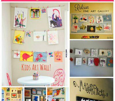Kids Art Wall Ideas