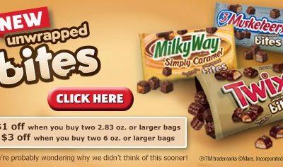 TWIX® Bites Coupon – Save Up To $3!