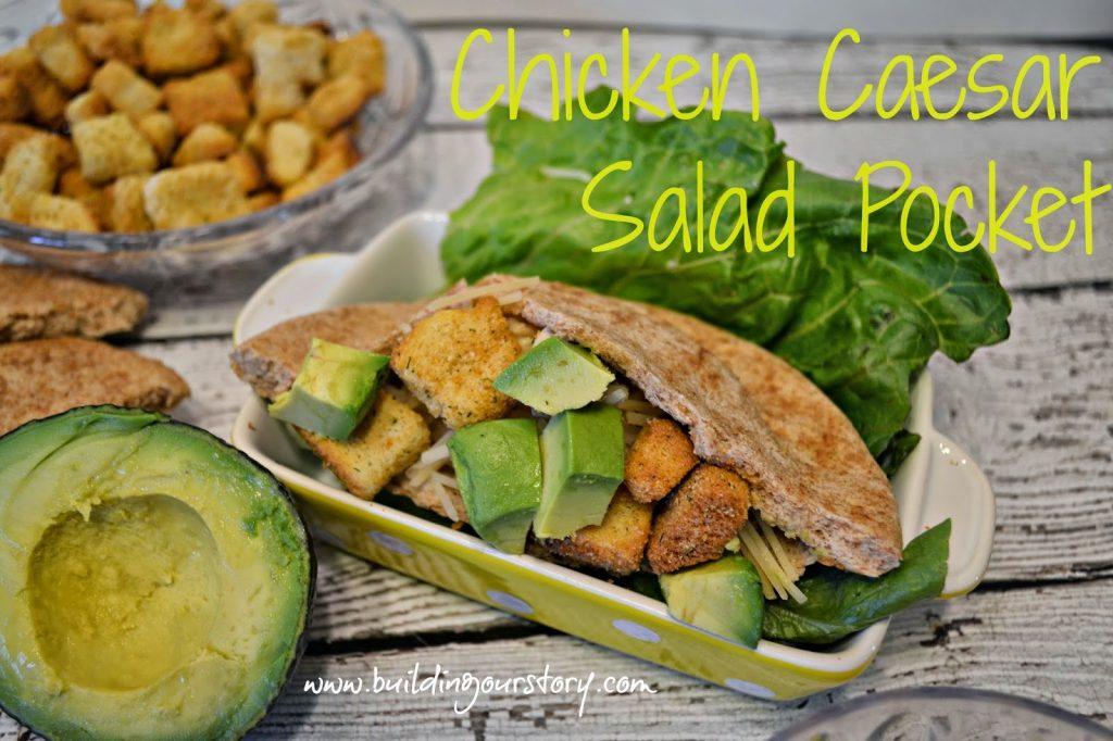 Chicken Caesar Salad Pocket Crock Pot Recipe Building Our Story