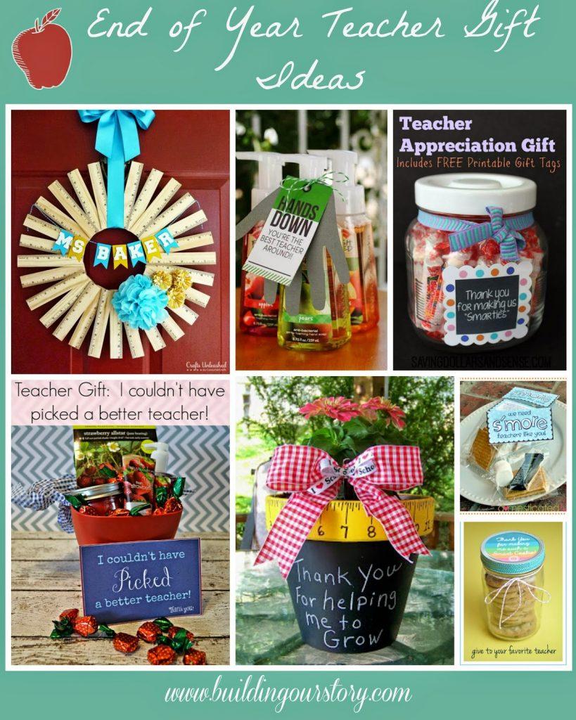 End of the Year Teacher Gift #DIY Ideas.  DIY Teacher Appreciation Gifts.  Teacher Gifts.  Easy Teacher gift Ideas.