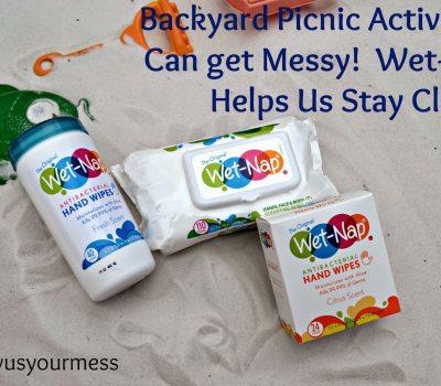 Backyard Picnic Activities with Wet-Nap®   #ShowUsYourMess #PMedia #ad