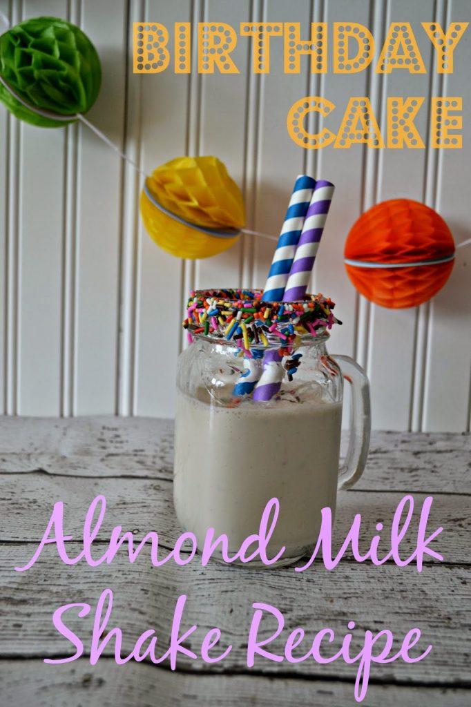 benefits of almond milk protein in almond milk almond milk recipes smoothies with almond milk cooking with almond milk Birthday Cake Milk Shake Recipe.  Milk Shake Recipes.  Almond Milk Shake Recipes. Birthday Cake Milk Shake #Recipe with Almond Milk