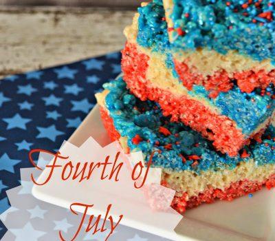 Fourth Of July Rice Krispie Treats