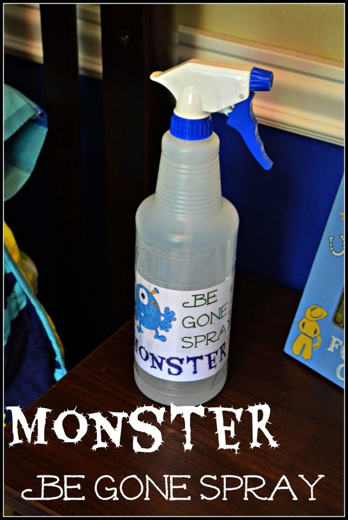 Monster Be Gone Spray for Spooky #Toddlers #DIY No More Monster Spray