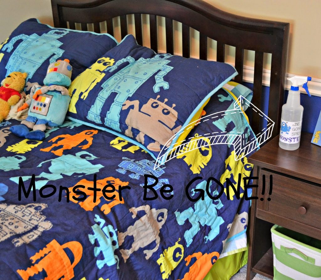 Monster Be Gone Spray for Spooky #Toddlers #DIY