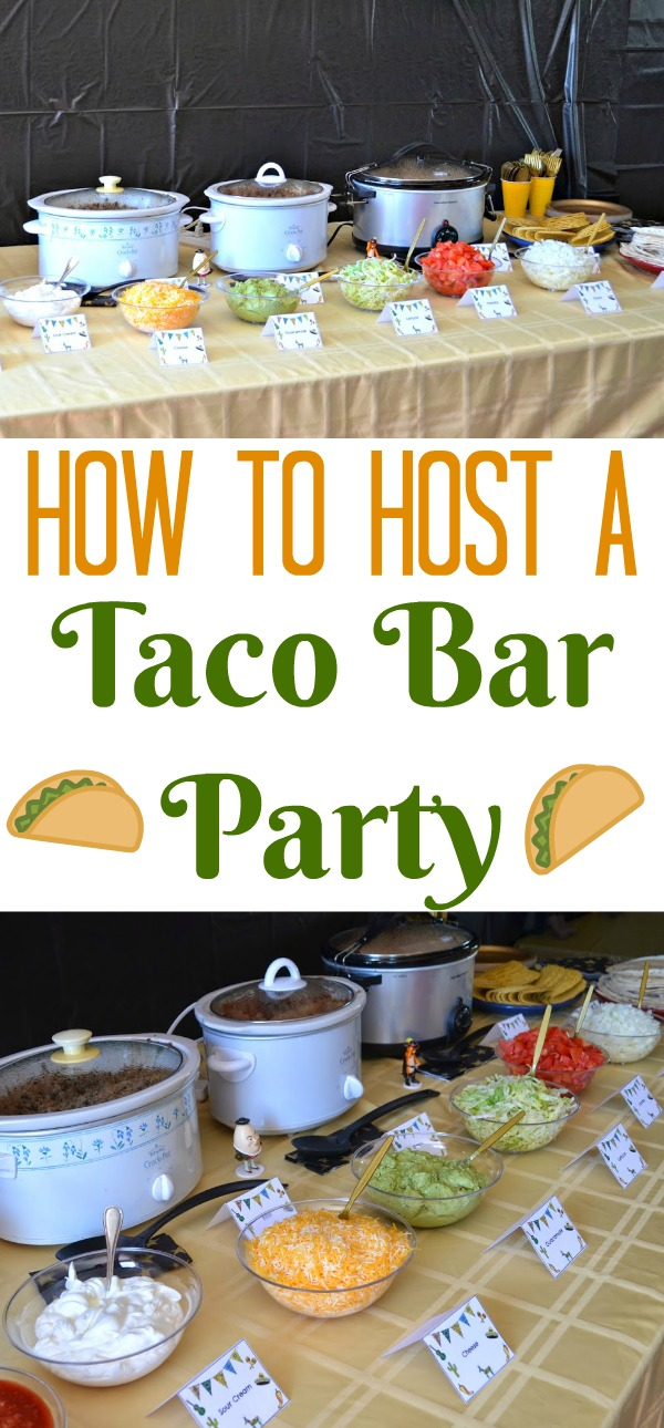 how to host a taco bar party, #DIY Taco Bar Party - Table Tents Free Printables. Taco Bar. Party Table Tents. Puss in Boots Birthday Party ideas. tacos, taco party, taco recipes, cinco de mayo, recipes for cinco de mayo
