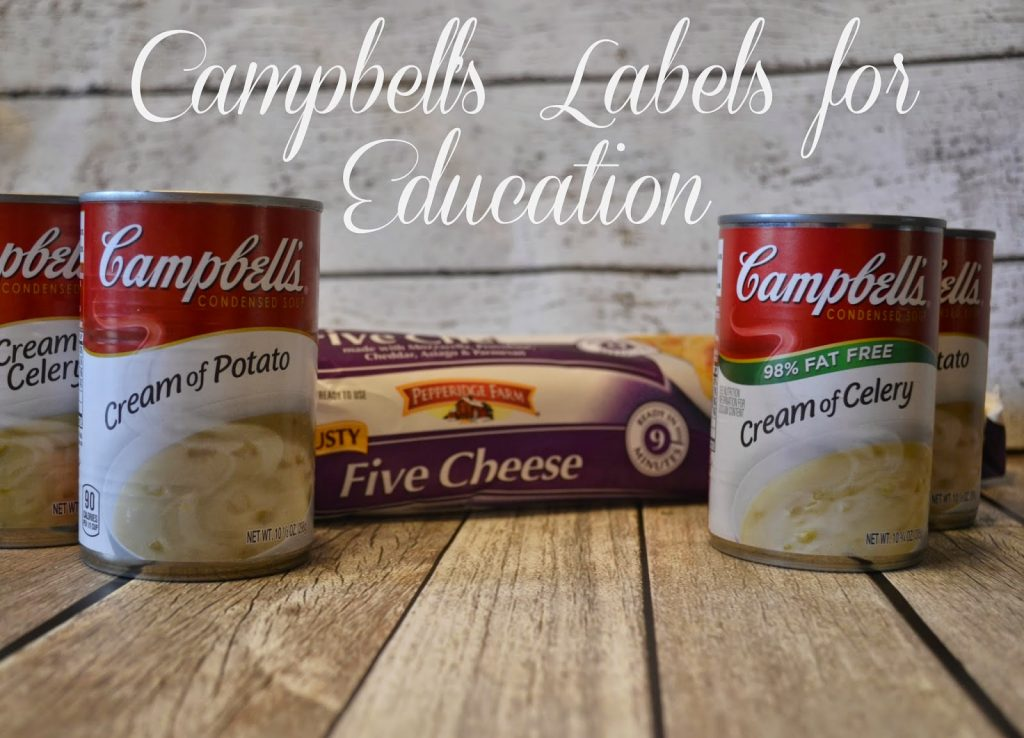 Labels for Education. Campbell's Sweepstakes. Campbell's Labels for Education. Hash Brown Casserole Recipe.  Easy Casserole recipe.