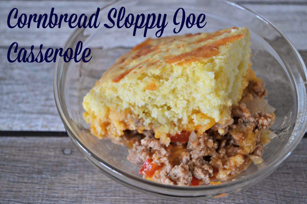 Cornbread Sloppy Joe Casserole #Recipe.  Cornbread Recipe.  Easy Cornbread recipe.  Sloppy Joe Recipe.  Sloppy Joe Casserole.  Sloppy Joe Casserole recipes.  Easy Casserole Recipes for families.  Dinner Ideas for Picky eaters!