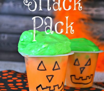 Fun Pumpkin Face Snack Pack Pudding Cup for #Halloween