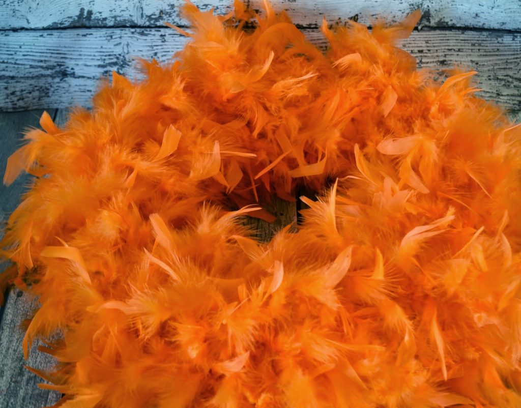 The Lorax Wreath #DIY. Lorax Wreath.  The Lorax Birthday Party.  Lorax Birthday party.  The Lorax Birthday Party ideas.  Lorax party decorations.  Lorax birthday decorations.