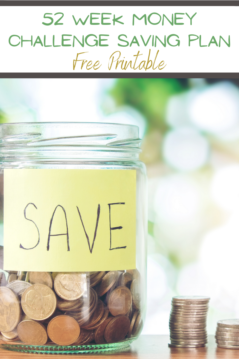 52 Week Saving Plan Money Challenge - Free Printable. New Years Saving Plan. 52 week saving plan. Savings Plan Printable. year long savings plan