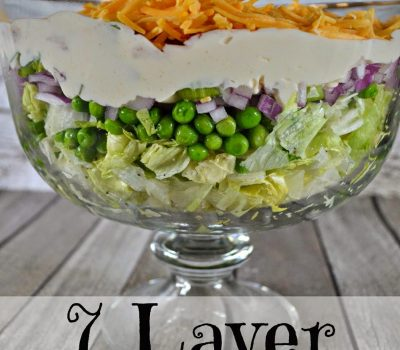 7 Layer Pea Salad #Recipe with KRAFT MIRACLE WHIP