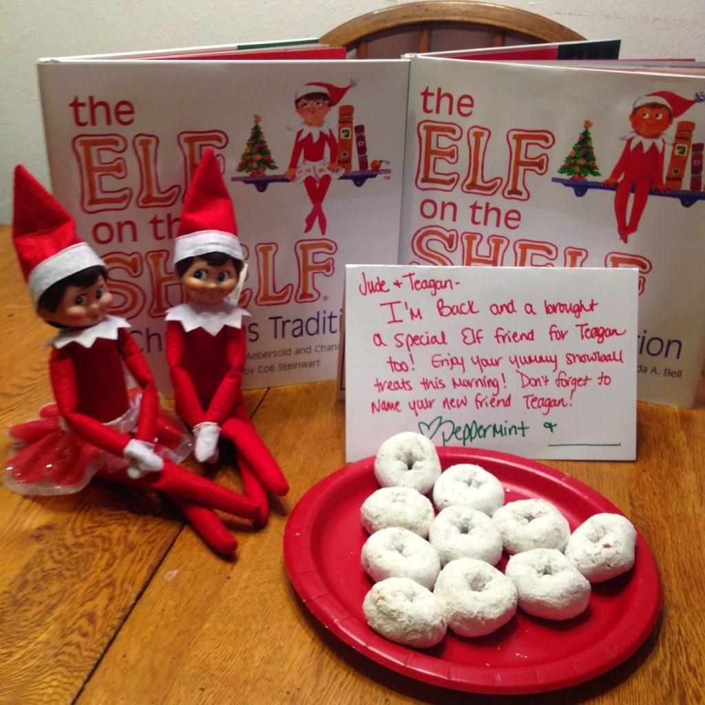 Elf on the shelf ideas.  Easy Elf on the shelf ideas.  Elf on the shelf ideas for 2 elves.  using 2 elves for Elf on the Shelf.  Elf on the Shelf ideas for toddlers.