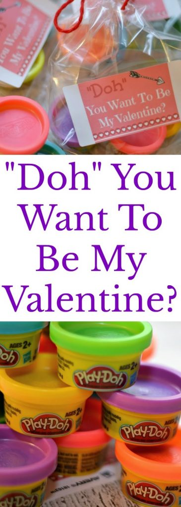 "Play-Doh Valentine - ""Doh"" You Want To Be My Valentine? Printable.  Fun Valentine Ideas.  Easy last minute Valentine's.  Play-dough valentines."