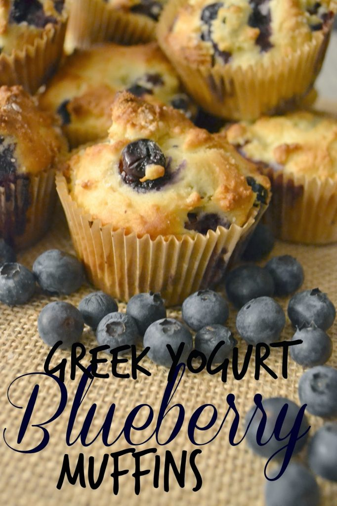 Greek Yogurt Blueberry Muffins #Recipe. Easy Blueberry Muffin Recipe. Muffin recipe with Greek Yogurt. Greek Yogurt Muffins. Blueberries for snacks. Healthy snacks.