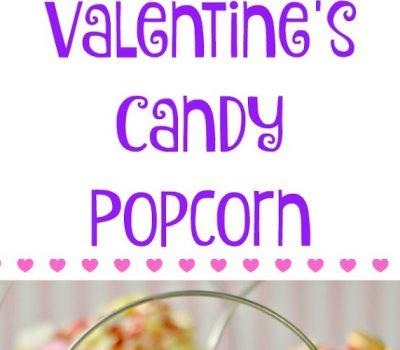 Valentine's Candy Popcorn #recipe