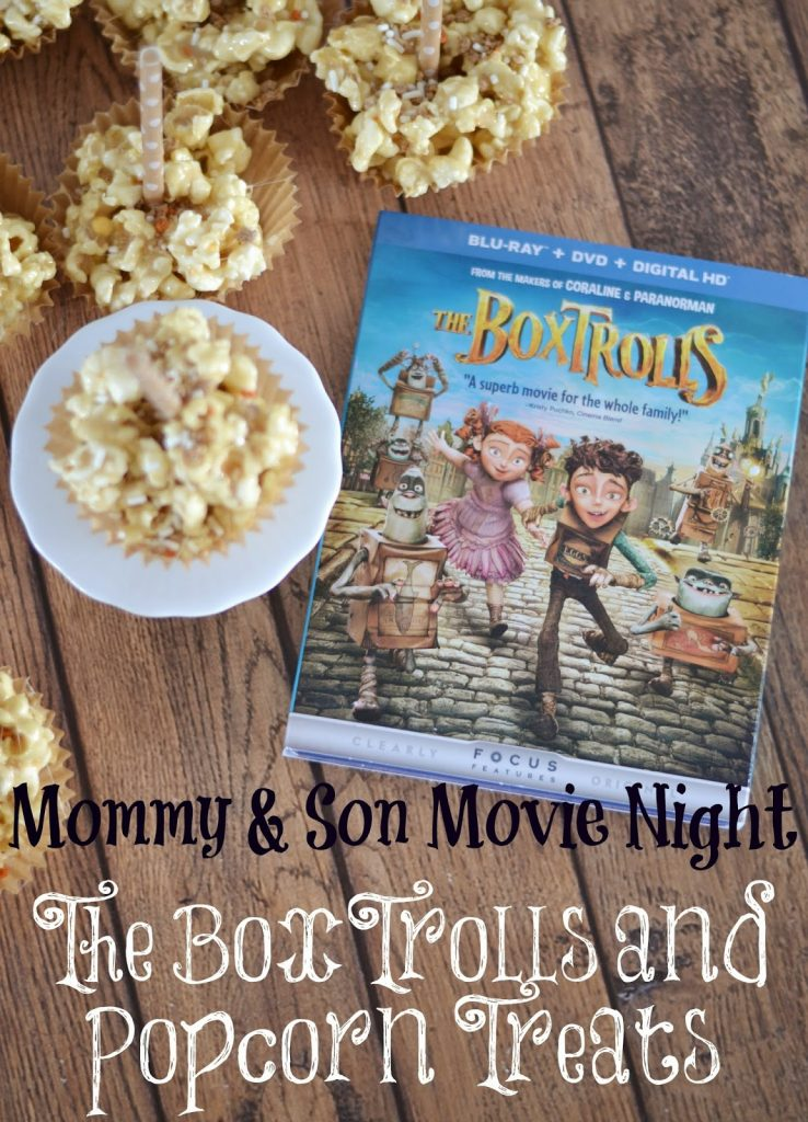 The Boxtrolls Movie Night:  Caramel Marshmallow Popcorn Pops #recipe.  Soft Popcorn Balls.  Easy Caramel Popcorn.  Easy Popcorn Ball recipes.  Marshmallow Popcorn balls.  Pop Secret Popcorn.  Movie Treats.  The Boxtrolls