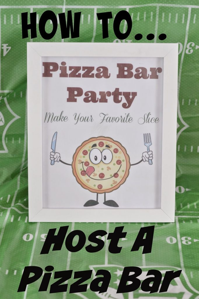 Host a Pizza Bar - Free Printables. Family Finest Pizzas. Pizza Bar ideas. Party ideas. Easy party food. Superbowl food. Pizza Bar printables. Pizza Party.