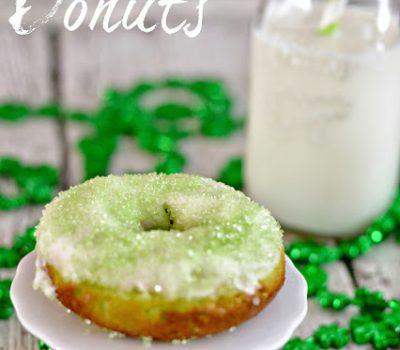 Shamrock Glazed Donuts #Recipe