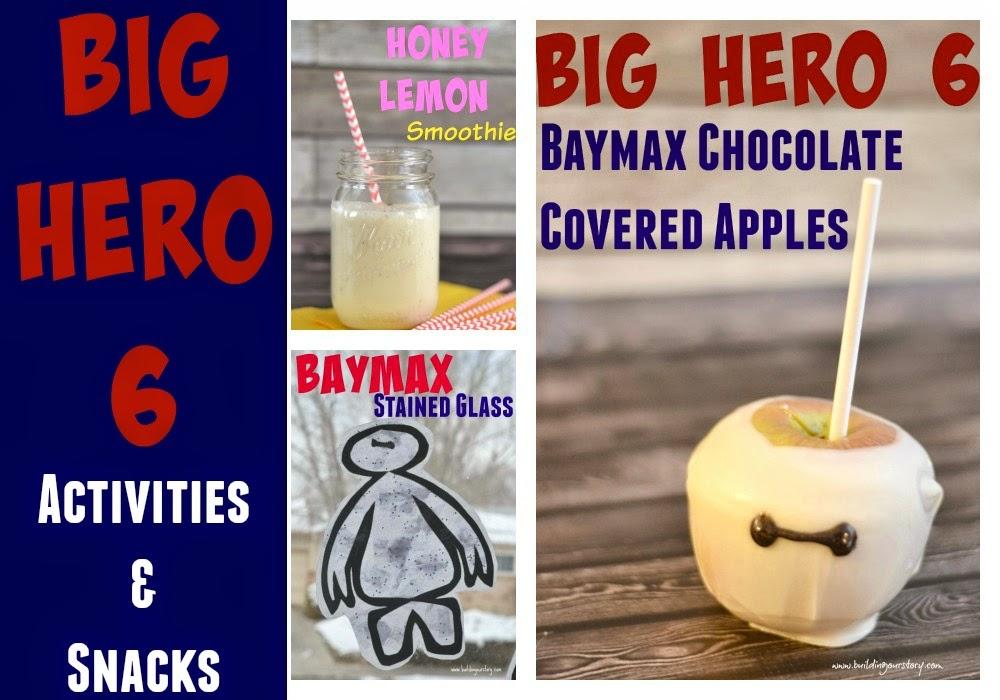Big Hero 6 DVD release.  Big Hero 6 crafts.  Big Hero 6 birthday party ideas.  Big Hero 6 recipes.  Baymax crafts for preschoolers.  Baymax desserts.  Baymax recipes.  Baymax inspired desserts.  Honey Lemon Smoothie.  Honey Lemon from Big Hero 6.  Big Hero 6 party ideas.
