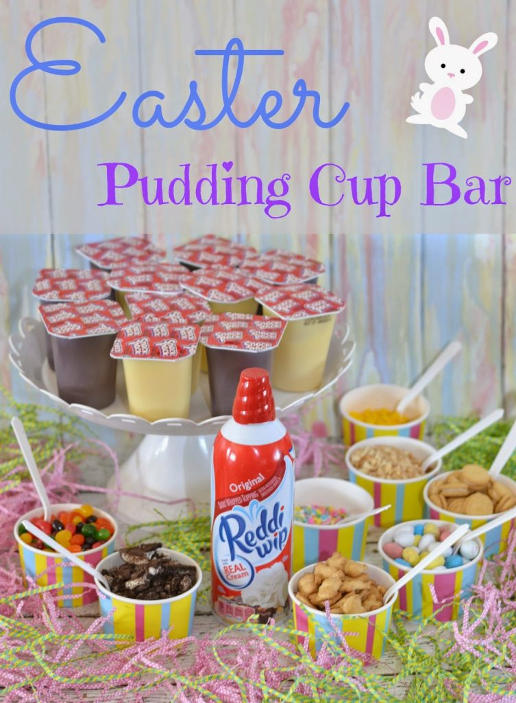 Pudding Cup Topping Bar, Pudding Toppings Bar, Pudding Bar, snack pack, snackpack, pudding cup, pudding cups, easter pudding cups, easy to make desserts, #SnackPackMixins