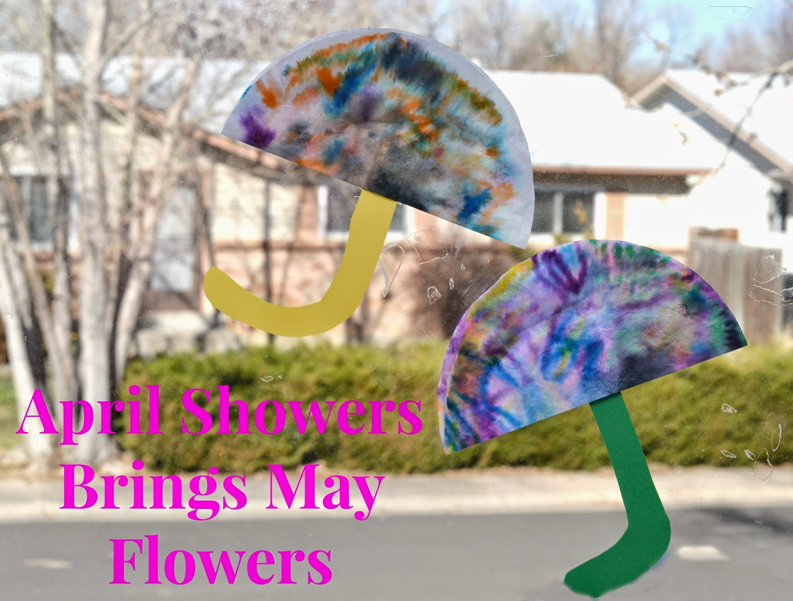 April Showers Brings May Flowers Coffee Filter Craft Building Our Story
