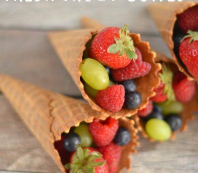 Fresh Fruit Cones – Snack