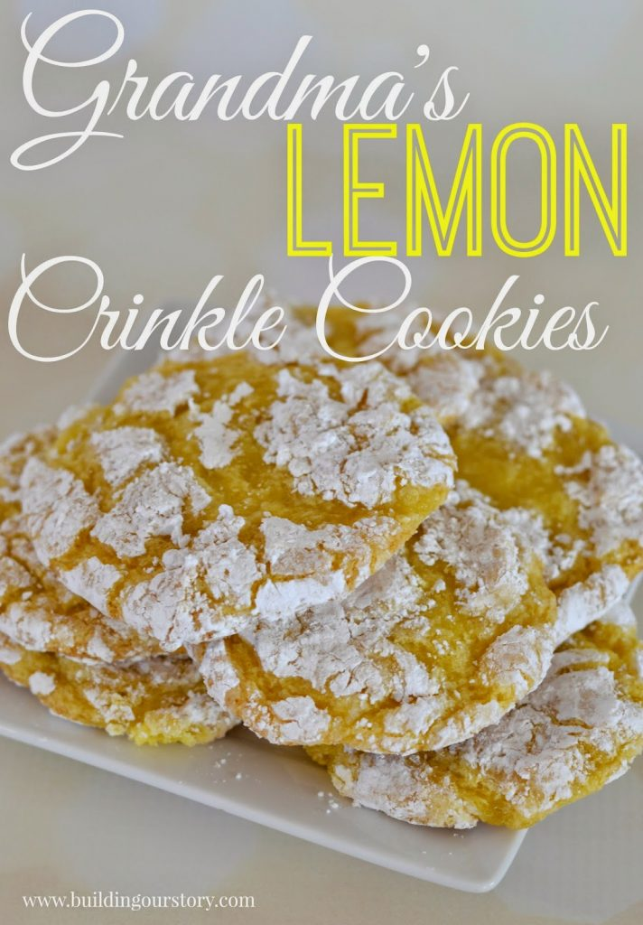 Grandma's Lemon Crinkle Cookies #Recipe.  Lemon Crinkle Cookies.  Lemon Cookies.  Easy Cool Whip Lemon Cookies.  Lemon Cookies with Cool Whip.  Lemon Desserts.  Crinkle Cookies.  Cookie Recipes.