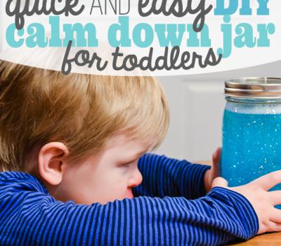 DIY Calm Down Jar for Toddlers