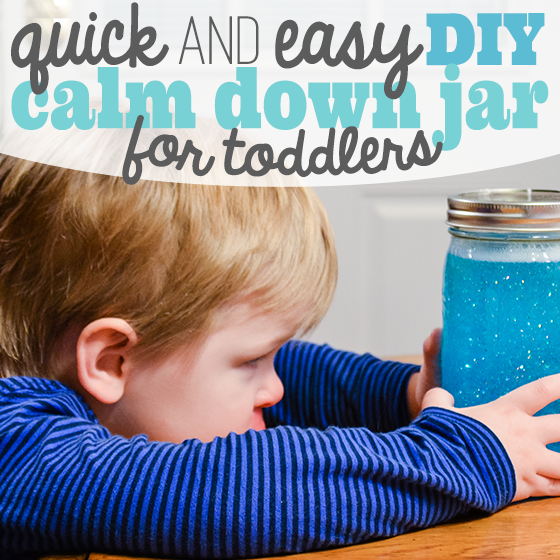 DIY Calm Down Jar for Toddlers.  How to create a Calm Down Jar.  Glitter glue jar.  Calm down techniques for toddlers.  Calm Down Jar for kids.