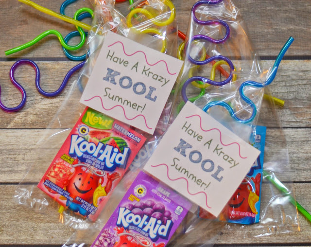Krazy KOOL End of Year Classmate Gifts, end of year gifts, end of the school year gifts for classmates, Have a Krazy KOOL Summer!  Free printables, Kool-Aid end of year gifts