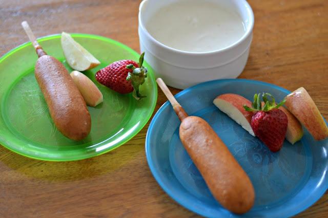 Fruit dip recipe, Foster Farms® Pancake Wraps, easy breakfast ideas, kid friendly breakfast ideas, Breakfast recipes, Yogurt Fruit Dip Recipe