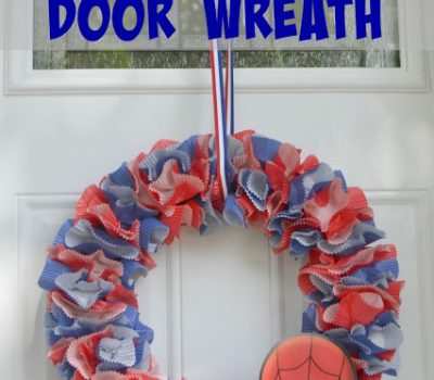 How to Make a Spider-Man Wreath #DIY