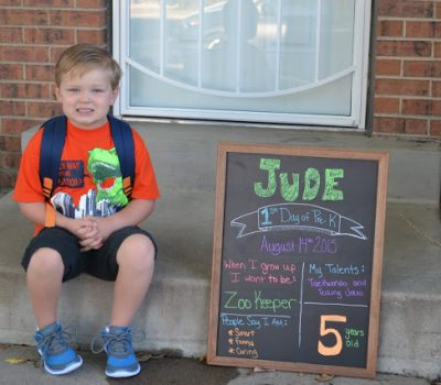 Jude's First Day of School – Pre-K 2015-2016