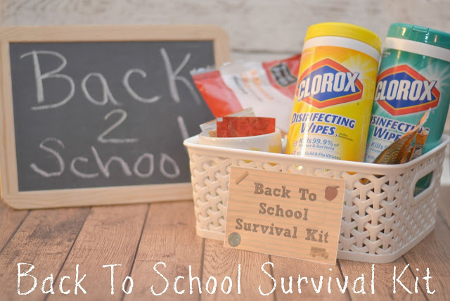 Back To School Survival Kit - Teacher Gift, back to school survival kit,  free printables, back to school gifts for teachers, easy DIY teacher gift