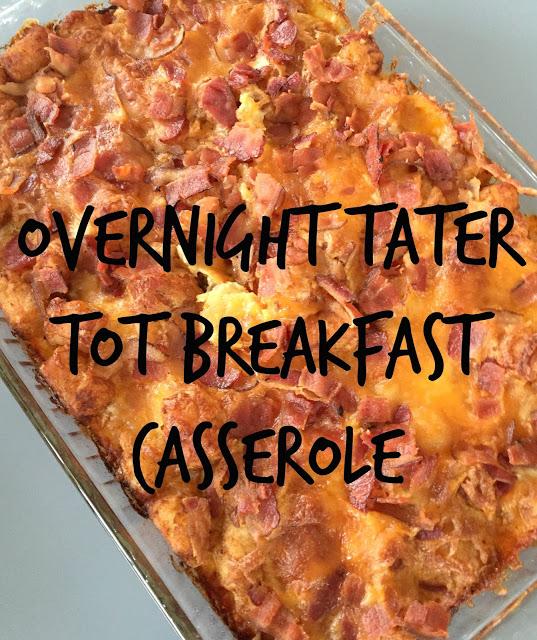 Overnight Tater Tot Breakfast Casserole, easy breakfast casseroles, overnight breakfast dishes, tater tot breakfast casseroles, breakfast dishes