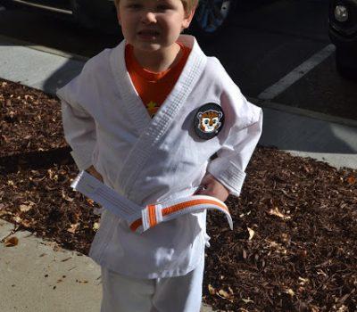 Jude's New Belt and Taekwondo Class